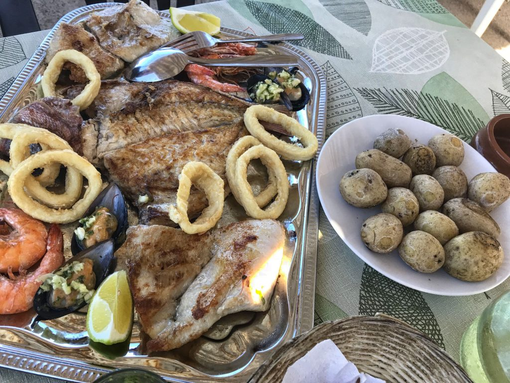 fish and seafood platter